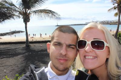 Us on holiday in lanzarote